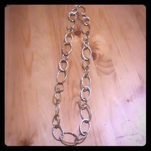 16 in gold link necklace
